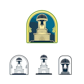 Bell tower vintage logo