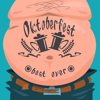 Belly tattoo oktoberfest festival banner