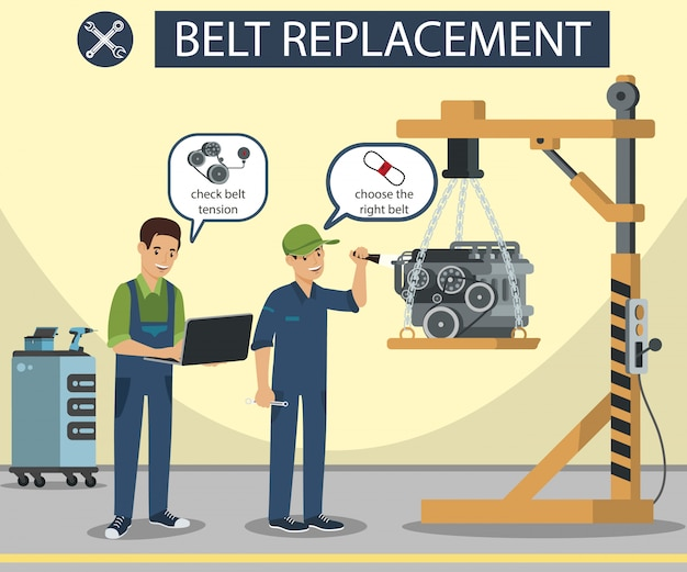Belt replacement master make diagnostics machine part banner