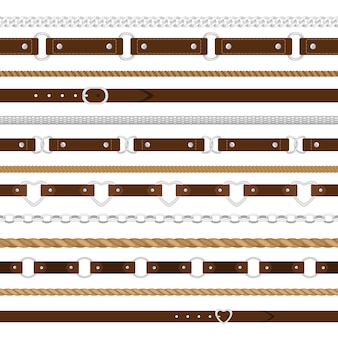 Belts seamless pattern