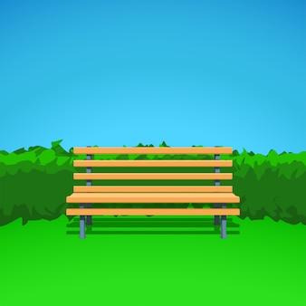 Bench on grass