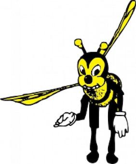 굽힘 꿀벌