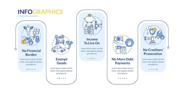 Benefit being credit free infographic template