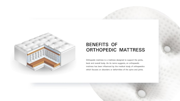 整形外科用マットレスのリアルなイラストのメリット