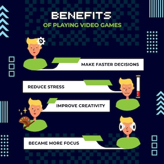 Benefits of playing video games explained with characters