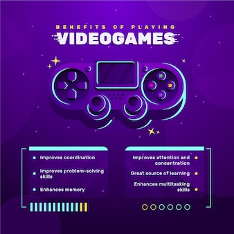 Benefits of playing videogame template