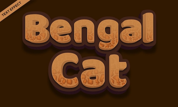 Bengal cat skin palette text effect