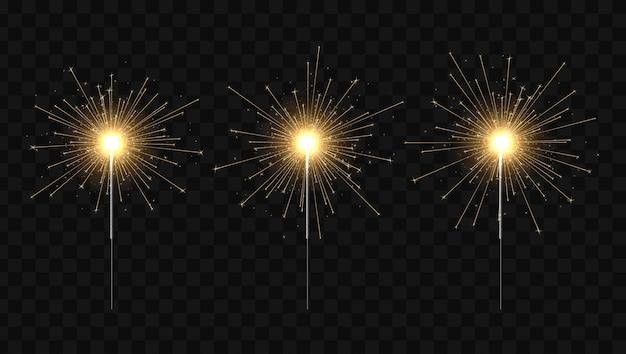 ベンガルの火。線香花火キャンドル。