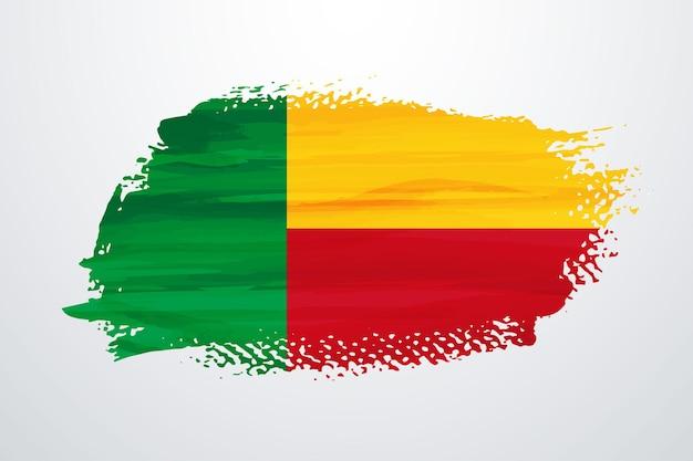 Бенин кисть краска флаг