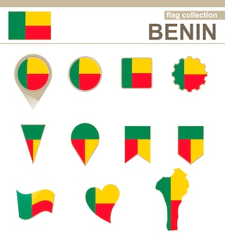 Benin flag collection, 12 versions