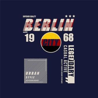 ベルリン市の伝説的なテキストフレームグラフィックデザインベクトルタイポグラフィtシャツ