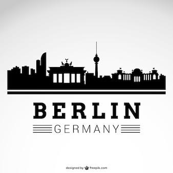 베를린 도시의 스카이 라인