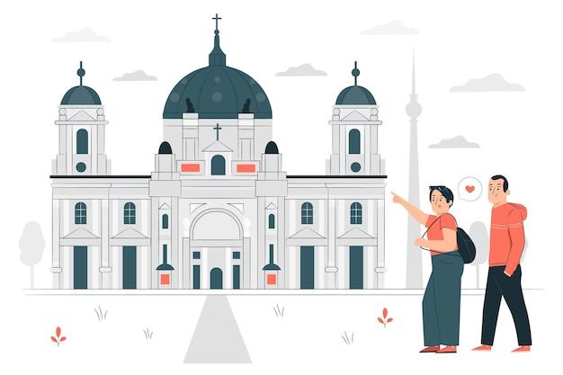 Иллюстрация концепции берлина