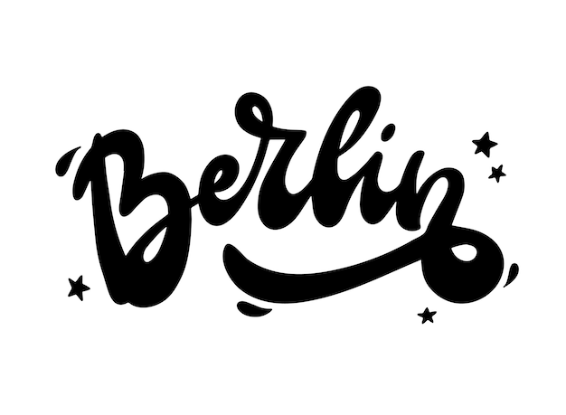 'berlin' hand lettering quote