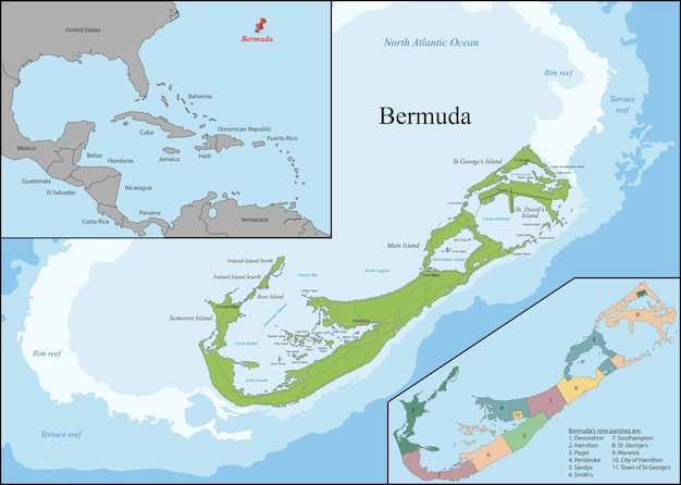 Bermuda is a british overseas territory in the north atlantic ocean