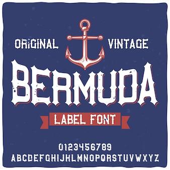 Carattere tipografico delle bermuda