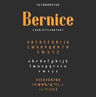 Bernice alphabet font