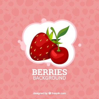 Berries background design