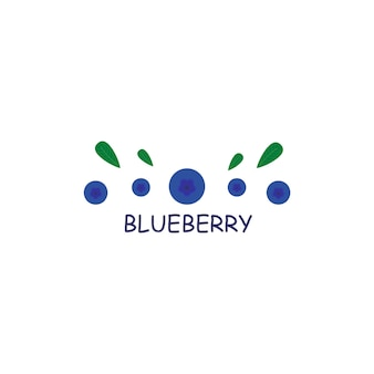 Berries logo blueberries signs and symbols of berries vector graphics