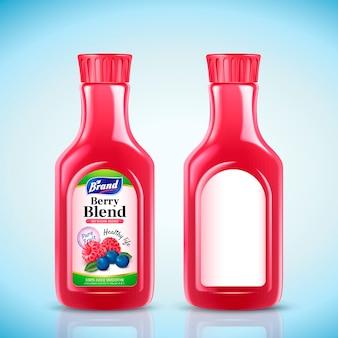 ベリーブレンドジュースボトルイラスト