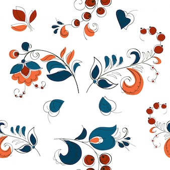 Berry and flowers in russian style