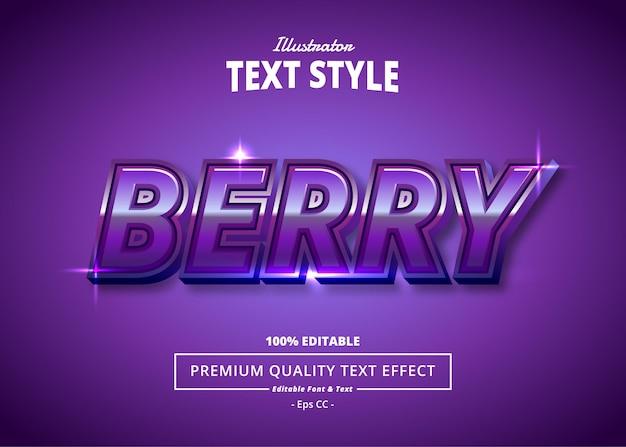 Berry illustrator text effect