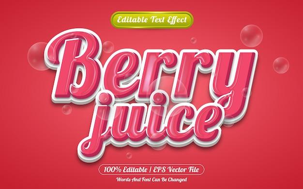 Berry juice editable text effect liquid style
