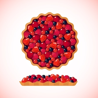 Berry pie illustration