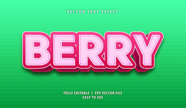 Эффект ягодного текста, редактируемый текстовый стиль