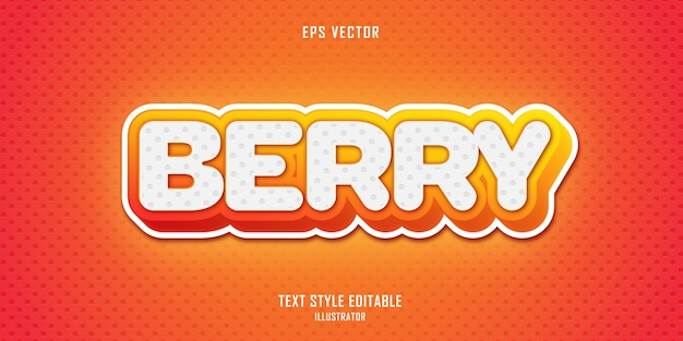Berry  text style effect