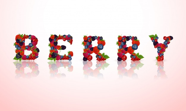 Berry word lettering