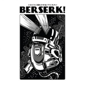 Berserk black and white illustration