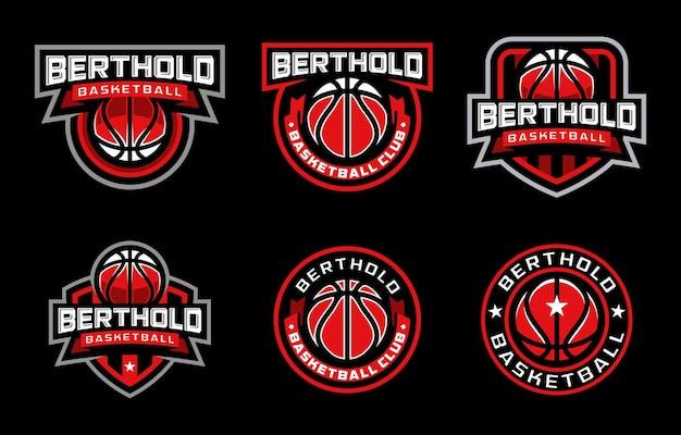 Berthold basketball sport logo Premium Vector