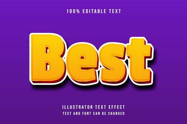 Best,3d editable yellow gradation orange dots pattern text effect modern shadow style
