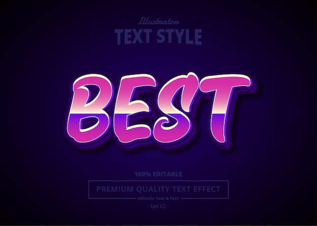 Best 80's  text effect