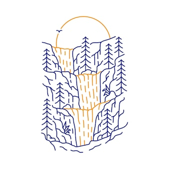 The best art is nature 1 illustration in hand drawn