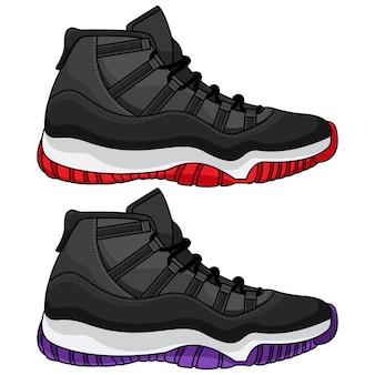 Best basketball shoes Premium Vector