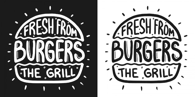 Best burger lettering with rays and engraving bun.