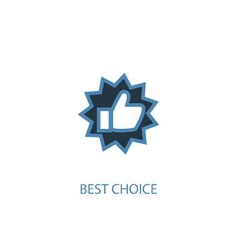Best choice concept 2 colored icon. simple blue element illustration. best choice concept symbol design. can be used for web and mobile ui/ux