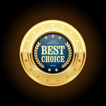 최고의 선택 황금 휘장-라운드 메달