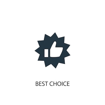 Best choice icon. simple element illustration. best choice concept symbol design. can be used for web and mobile.