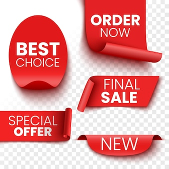 Best choice offer and big sale ribbons and banners