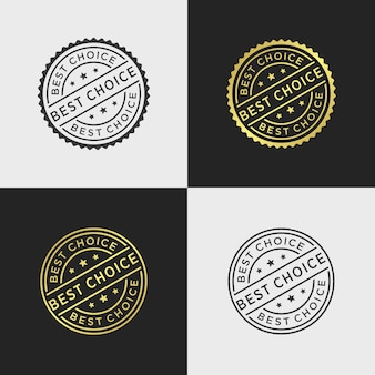 Best choice stamp vector template