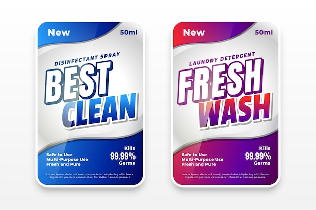 Best clean and fresh wash laundry detergent labels