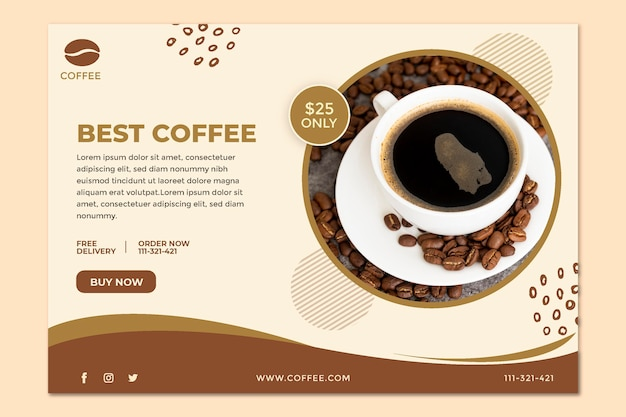 Best coffee shop banner template
