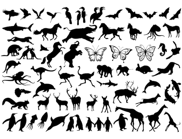 Best collection of animals silhouettes