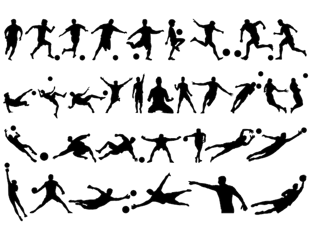 Best collection of football silhouettes