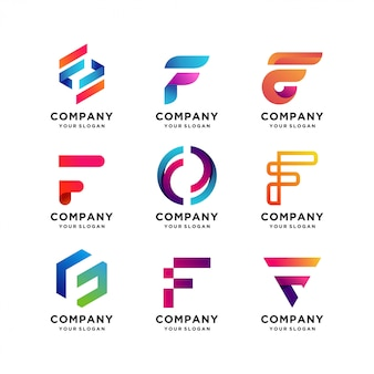 Best collection of letter f logo templates