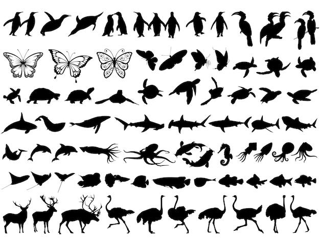 動物のシルエットの最高のコレクション