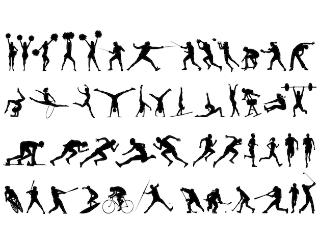 Best collection of sports silhouettes
